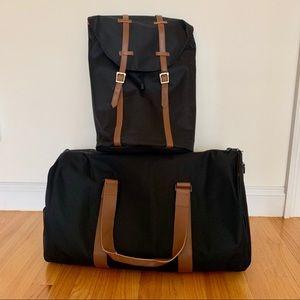 Handbags - Black Backpack & Travel Duffle Bag Set